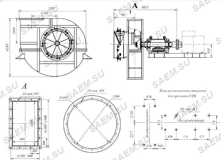 Схема дымососа ГД-25