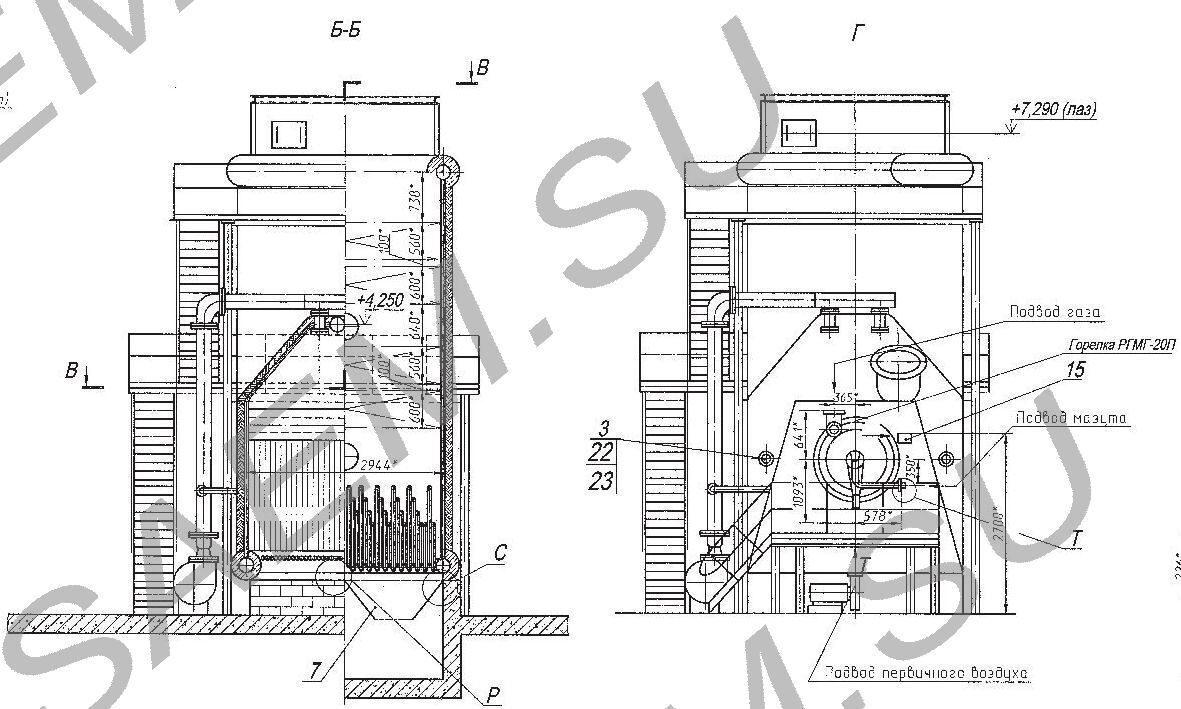 схема автоматизация котла кв-гм 10