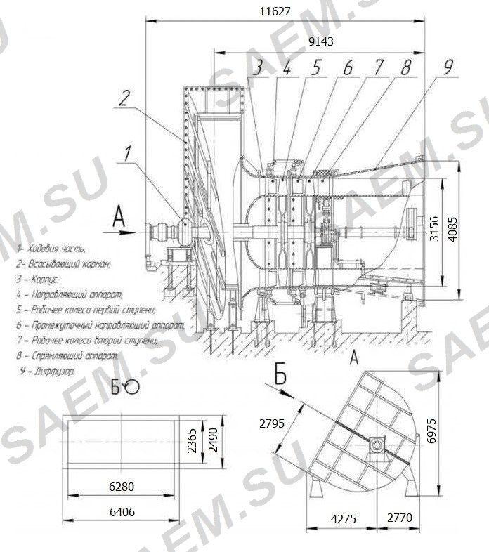 Схема вентилятора ВДОД-31,5-С