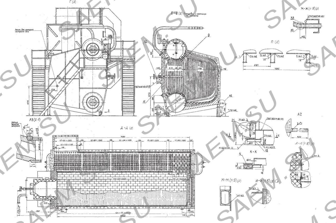 Схема котла де-25-14 гм