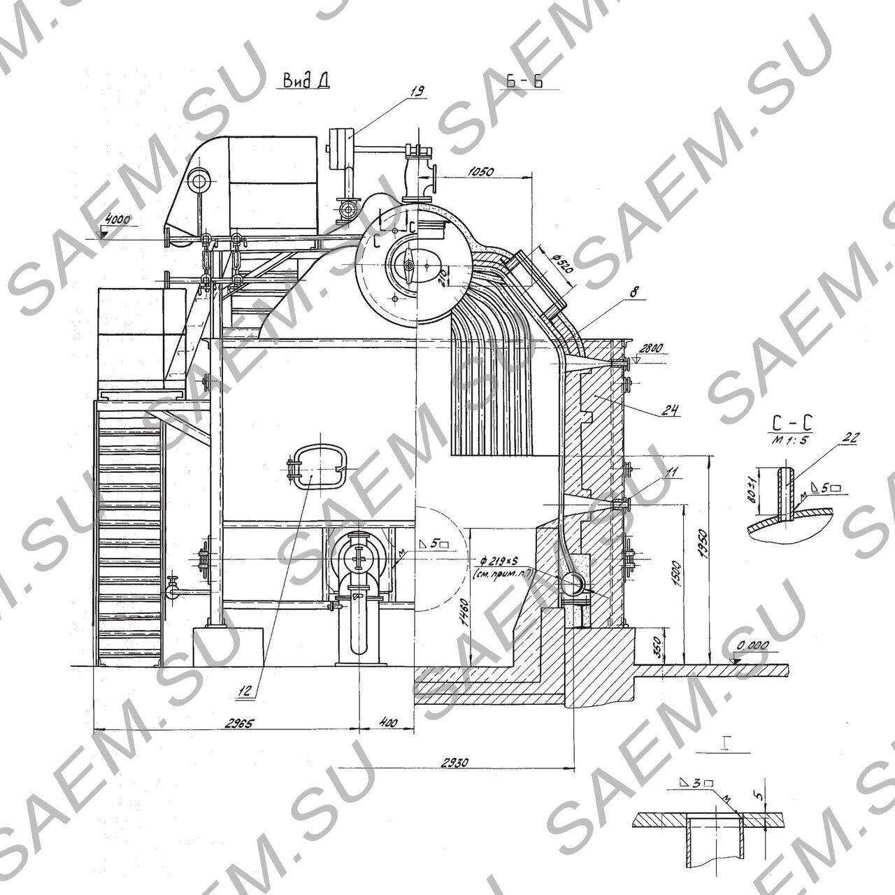 схема газавогоколлектора котла дквр